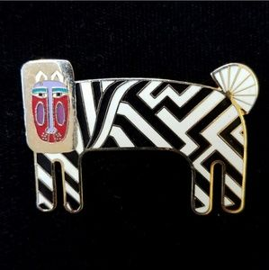 "VTG Laurel Burch ""Zzzzebra"" Brooch"